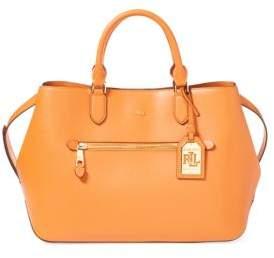 Lauren Ralph Lauren Saffiano Medium Sabine Satchel Bag