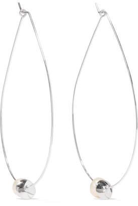 Dinosaur Designs Sterling Silver Pearl Earrings - White