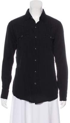 Saint Laurent Collared Button-Up Top