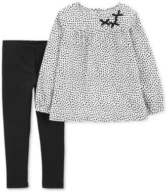 Carter's Baby Girls 2-Pc. Woven Dot-Print Tunic & Leggings Set