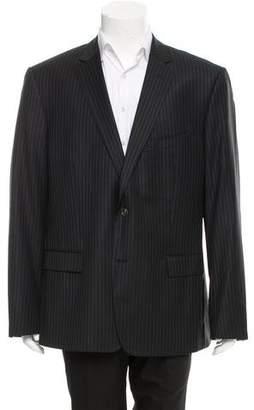 Versace Striped Wool Blazer