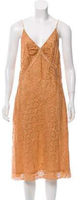Marc Jacobs Sleeveless Lace Midi Dress
