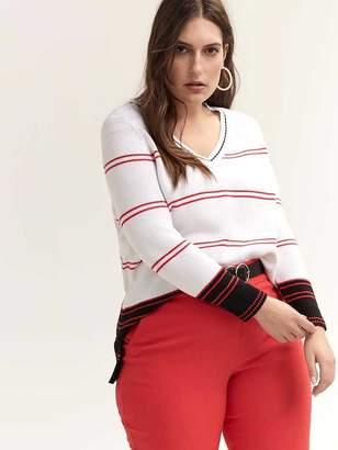 Long Sleeve Cotton Colour Block Sweater