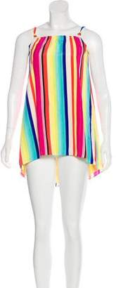 Nicole Miller Striped Sleeveless Dress