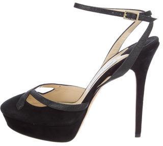 Jimmy ChooJimmy Choo Suede Platform Sandals