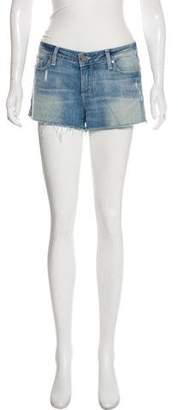 Paige Denim Distressed Mini Shorts