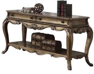 ACME Furniture Acme Ragenardus Victorian Sofa Table in Vintage Oak