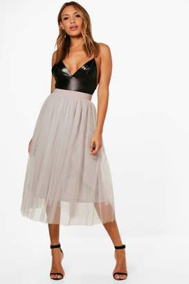 boohoo Boutique Full Tulle Midi Skirt