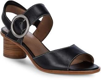 Bernardo Women's Stacked Heel Leather Sandals