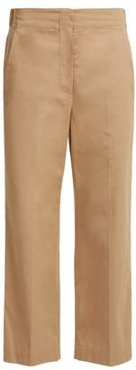 Raey Elasticated Back Cotton Chino Trousers - Womens - Tan