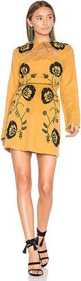 Tularosa Keelan Dress in Mustard $218 thestylecure.com