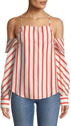 STYLEKEEPERS Can't Be Tamed Off-The-Shoulder Striped Blouse