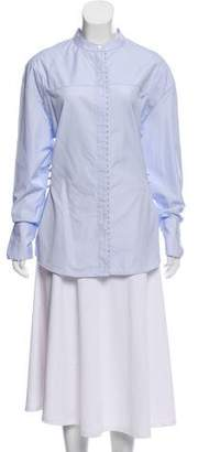 3.1 Phillip Lim Pearl-Accented Button-Up Top