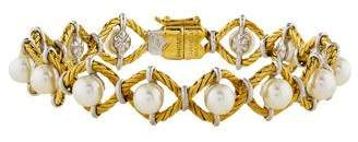 Buccellati 18K Pearl Link Bracelet