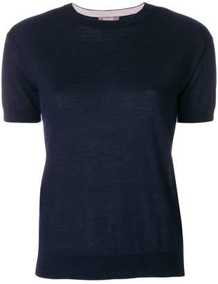 N.Peal cashmere contrast trim T-shirt