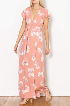 Cotton Candy Wrap Floral Maxi Dress