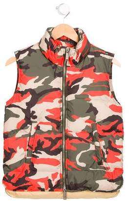 DSQUARED2 Boys' Camouflage Print Puffer Vest w/ Tags