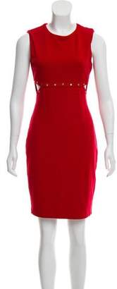 Bailey 44 Rivet Embellished Cutout Dress