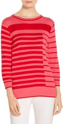 St. John Intarsia Stripe Knit Sweater