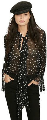 Ralph Lauren Denim & Supply Star-Print Necktie Blouse $98 thestylecure.com