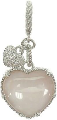 Judith Ripka Sterling & Doublet Heart Charm
