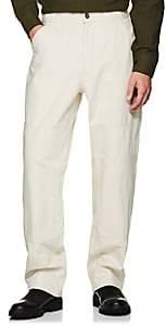 Margaret Howell Men's Cotton Canvas Painter Pants - White