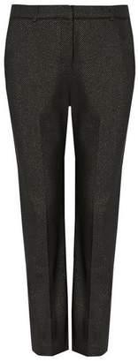 Wallis Petite Silver Jacquard Trouser