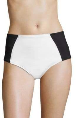 Stella McCartney Miracle High-Waist Colorblock Bikini Bottom