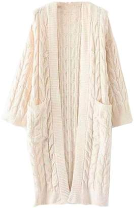 Goodnight Macaroon 'Timia' Cable Knit Long Cardigan (2 Colors)