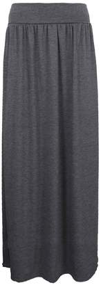 Roland Mouret Fashions Ladies Turn Up High Waist Jersey Pleated Womens Long Full Length Maxi Skirt