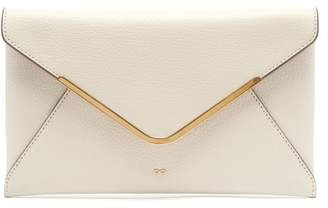 Anya Hindmarch Postbox Leather Clutch Bag - Womens - White