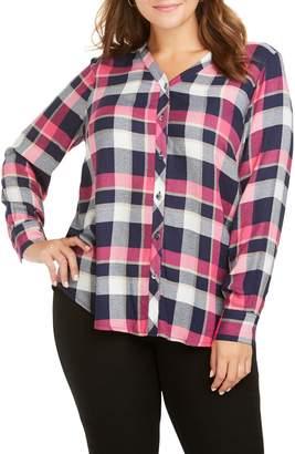 Foxcroft Daisy Plaid Crepe Shirt