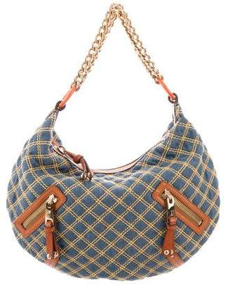 Marc Jacobs Large Denim Banana Hobo
