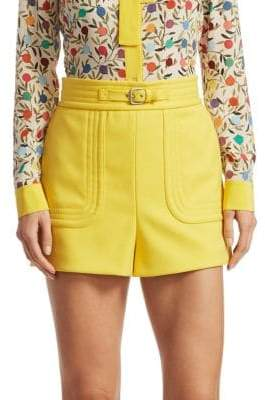 ... RED Valentino Belted Hi-Rise Shorts
