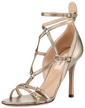 Valentino Metallic High Leather Pump