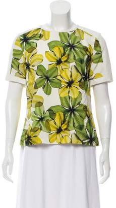 Jason Wu Short Sleeve Printed Top