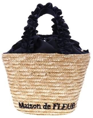 222af1fcf70c Maison de Fleur (メゾン ド フルール) - Maison de FLEUR フリルハンドルパール巾着