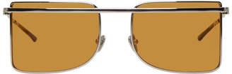 Calvin Klein Yellow Rectangular Brow Bar Sunglasses