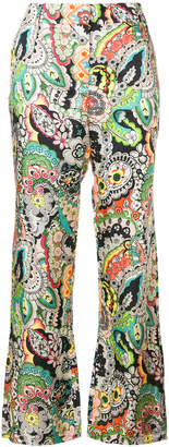 Paul & Joe floral print cropped trousers