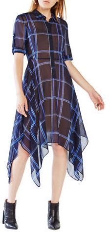 BCBGMAXAZRIABcbgmaxazria Beatryce Plaid Silk Shirt Dress