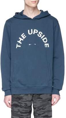 The Upside Logo print hoodie