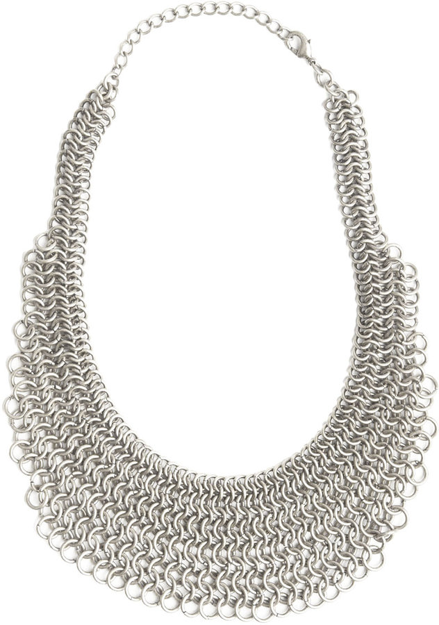 Heavy Chain Bib Necklace