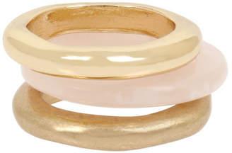 Robert Lee Morris Soho Mixed Rose Quartz Stackable Ring Set