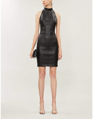 Jitrois Ribbed leather dress
