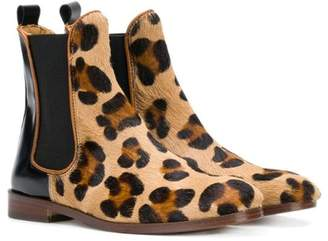 Gallucci Kids leopard print ankle boots