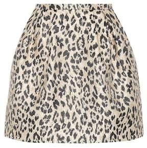 Valentino Leopard brocade miniskirt