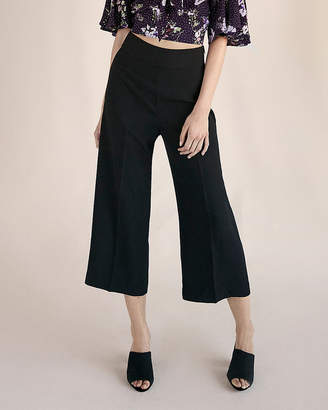 Express High Waisted Crepe Culottes