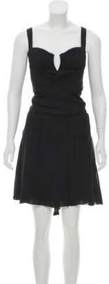 CNC Costume National Silk Halter Dress