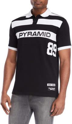 Black Pyramid Black 89 Stripe Polo