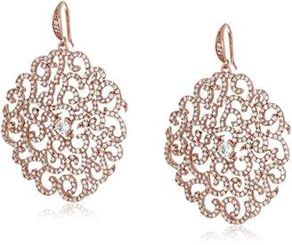 """Carolee Floral Lace-Bridal/Prom"""" Tone Dramatic Floral Pierced Drop Earrings"""